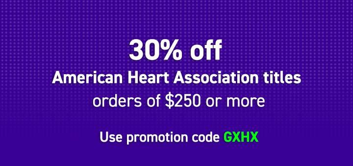 30% off American Heart Association titles