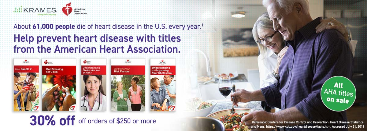 Help prevent heart disease with titles from the American Heart Association.