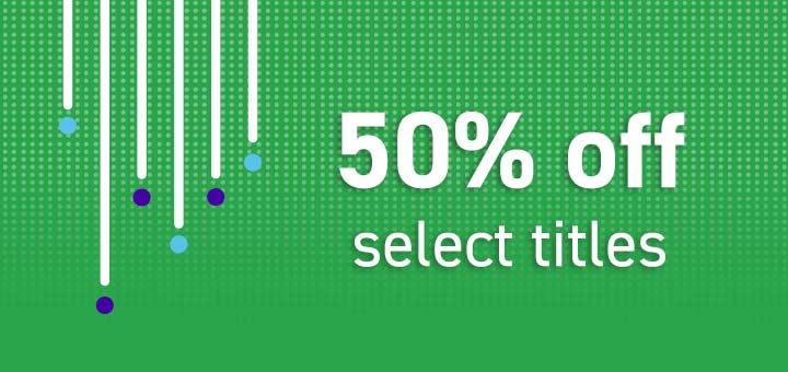 50% off select titles