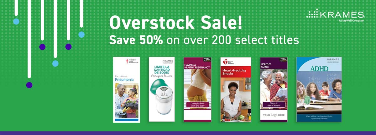 Overstock Sale! Save 50% on over 200 select titles
