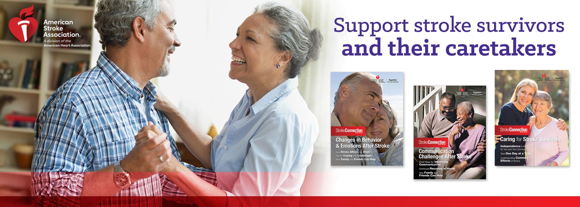 Support stroke survivors and their caretakers