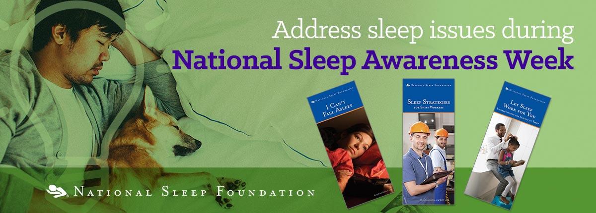 Address sleep issues during National Sleep Awareness Week