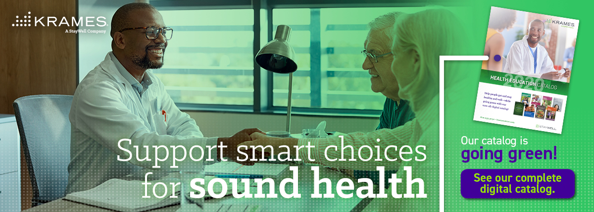 Support smart choices for sound health. Our catalog is going green!