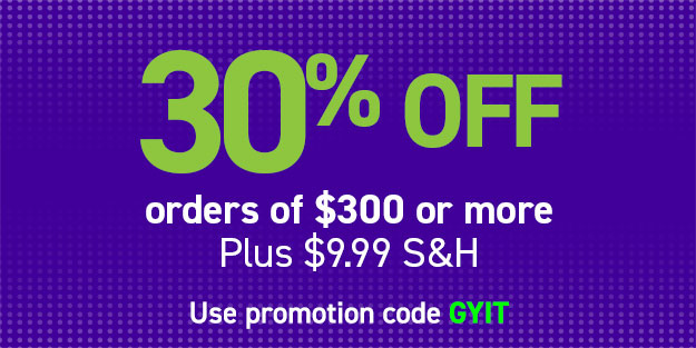 30% off orders of $300 or more
